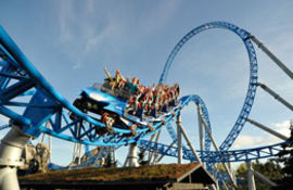 Europa Park - Blue Fire Megacoaster powered by GAZPROM - © Europa-Park GmbH & Co Mack KG